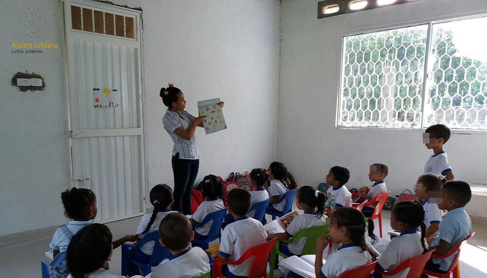 Nueva aula para los más pequeños del colegio en Bonda
